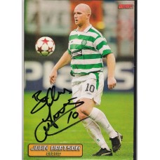 Autograph of John Hartson the former Celtic footballer.